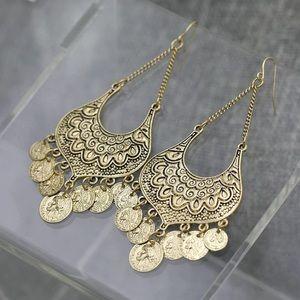 New Golden Fishhook Boho Earrings